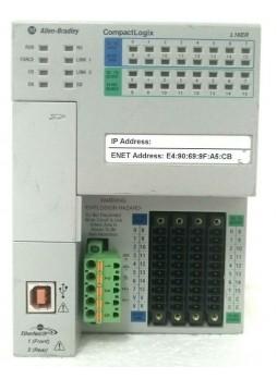 Allen Bradley CompactLogix 384KB DI/O Controller 1769-L16ER-BB1B / A FW: 1.003